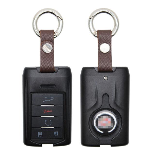 Aluminium Remote Fob Key Black Case For 2007-2014 Cadillac