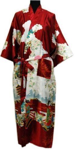New Fashion Chinese Silk//satin women Men/'s Kimono Robe Gown Bathrobe Dress