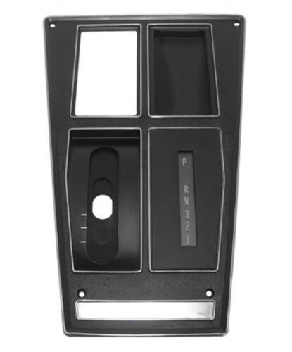75-76 Corvette Shift Plate Assembly Automatic Console AC No Vent Hole Trim Parts