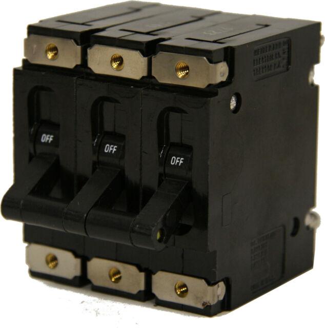 Heinemann 3 pole AM3-A3-A Circuit Breaker 15 amp New