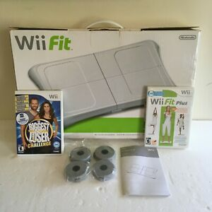 Nintendo Wii Fit Balance Board in Box and Wii Fit Exercise Game Bundle Tested