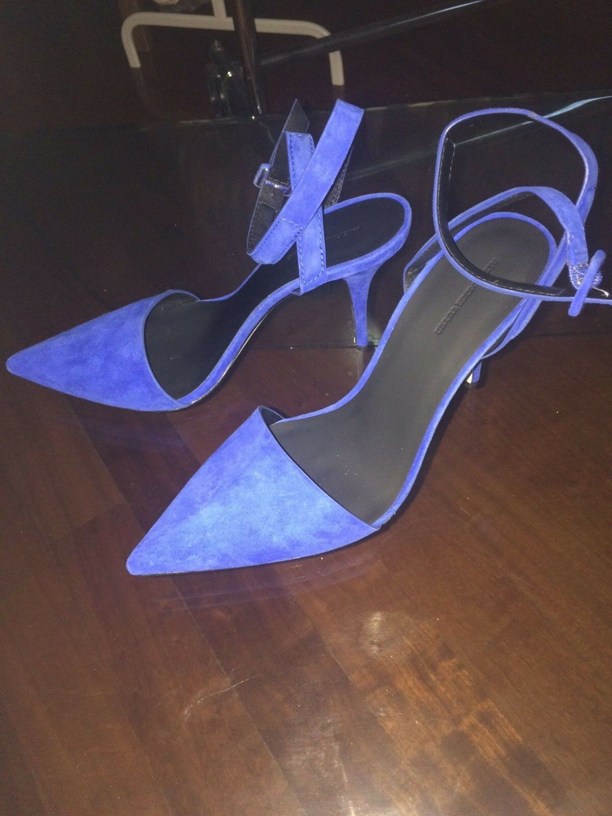 ALEXANDR WANG Electric blu Suede Heels Molto Conforme, Catchy  and Styllish  qualità ufficiale