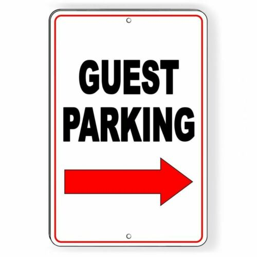 Guest Parking Sign Arrow Right METAL visitor club do not no parking best SNP44