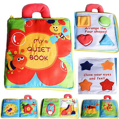 Baby  Stereo Flowers Cloth Book Baby Early Learn Education Development Toys B7E