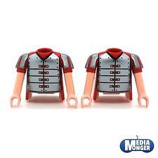 playmobil® Römer 2 x Oberkörper mit Arme rot silber | Plattenpanzer