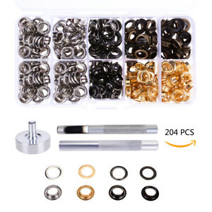 200-Set-Osen-mit-Scheibe-10mm-Durchmesser-Osenzange-Osenwerkzeug-Kupfer