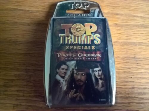 Top trumps specials card game set Pirates of the Caribbean Dead Man/'s Chest