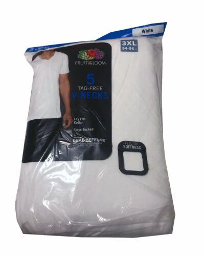 "Fruit of the Loom® BIG MEN/'S White V-Neck T-Shirts 5//10 Pack  /""100/% Cotton/"""