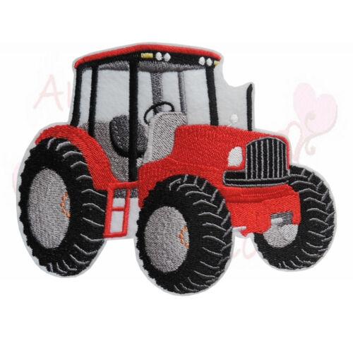 XL tractor en rojo aufbügler Patch perchas imagen Patch trekker tractor líbrenos
