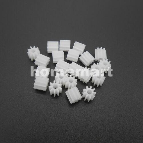 50PCS X 9T Plastic Spur Gear Teeth=9 Aperture:2mm 0.5 Modulus Accessories 1.95MM