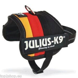 Julius-K-9-Power-Geschirr-DEUTSCHLAND-Schwarz-Rot-Gold-Hund-NEU
