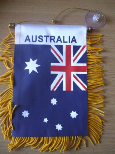 Australia Flag Mini Car banner for your car or any window.Great gift for OZ DAY.