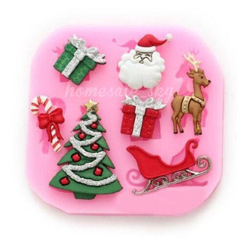 Christmas Silicone Fondant Mould Cake Deco Mold Chocolate Baking Sugarcraft
