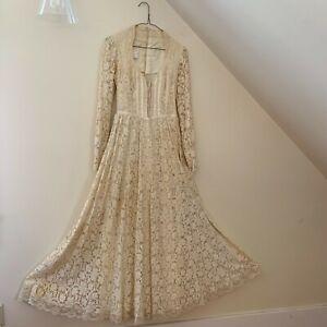 vintage 70's gunne sax corset lace wedding renaissance