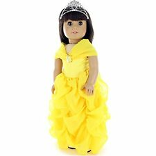 Doll Clothes - Princess Dress Outfit Fits American Girl Doll, My Life Doll, O...