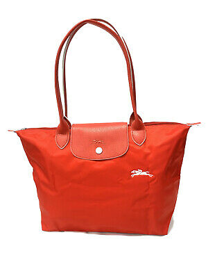 New Longchamp Le Pliage Club Tote Bag Vermilion Red 2605 Made in France    eBay