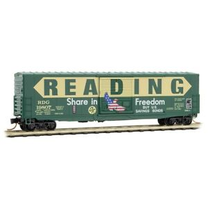 Reading-039-Freedom-039-paint-50-039-Standard-Boxcar-Micro-Trains-MTL-18000060-N-Scale