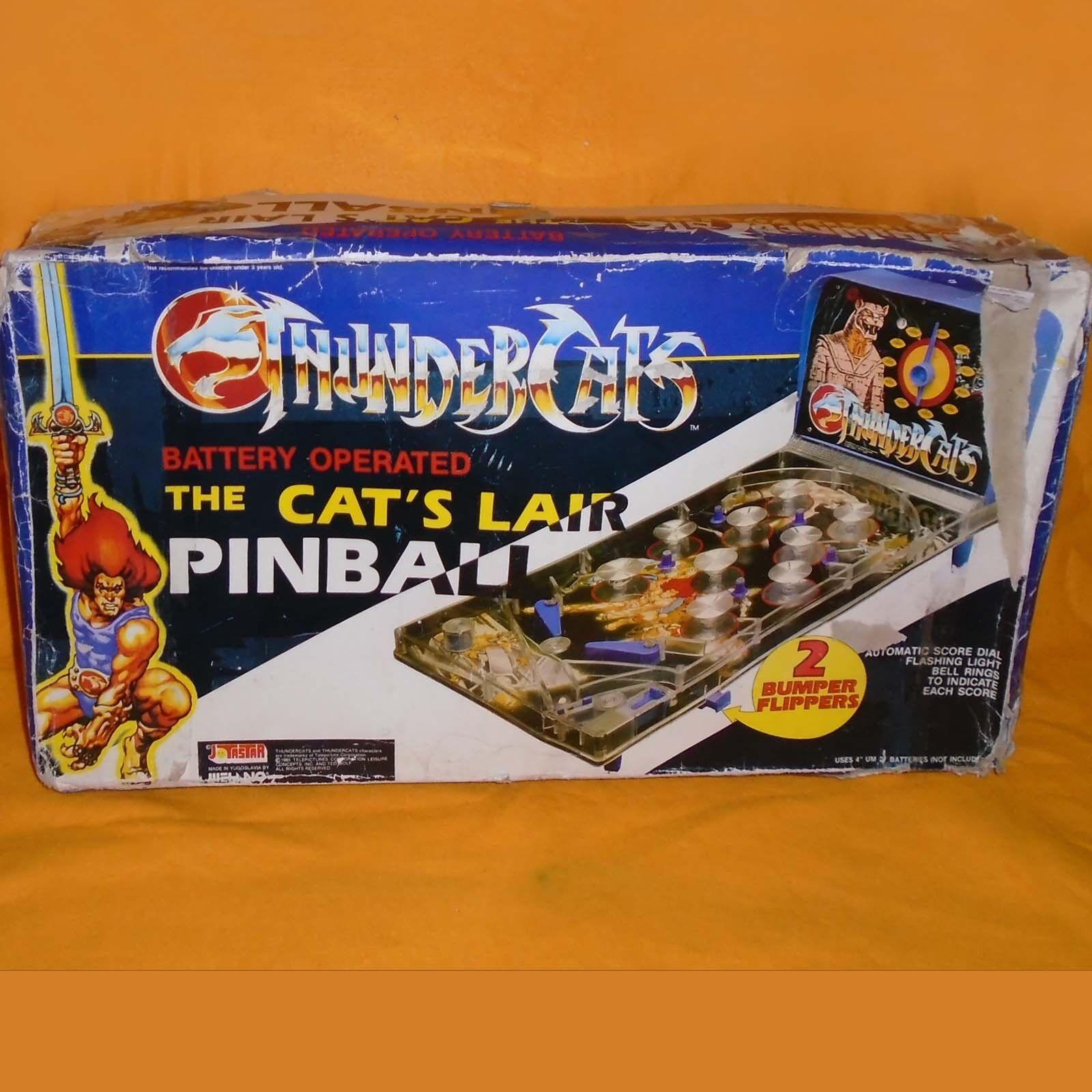 VINTAGE ANNI'80 Thundercats Cat's Nascondiglio FLIPPER GAME BOXED