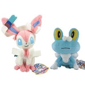 Pokemon-Sylveon-Nymphia-amp-Froakie-Stuffed-Animal-Soft-Plush-Doll-Gift