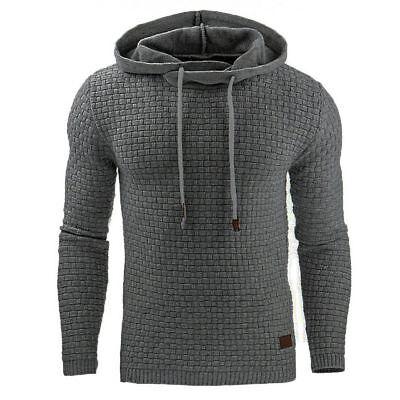 US STOCK Men's Casual Hoodie Sweatshirt Hooded Coat Jacket Sweater Pullover Tops