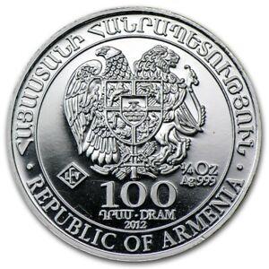 ARMENIE-100-Dram-Argent-1-4-Once-Arche-de-Noe-2012