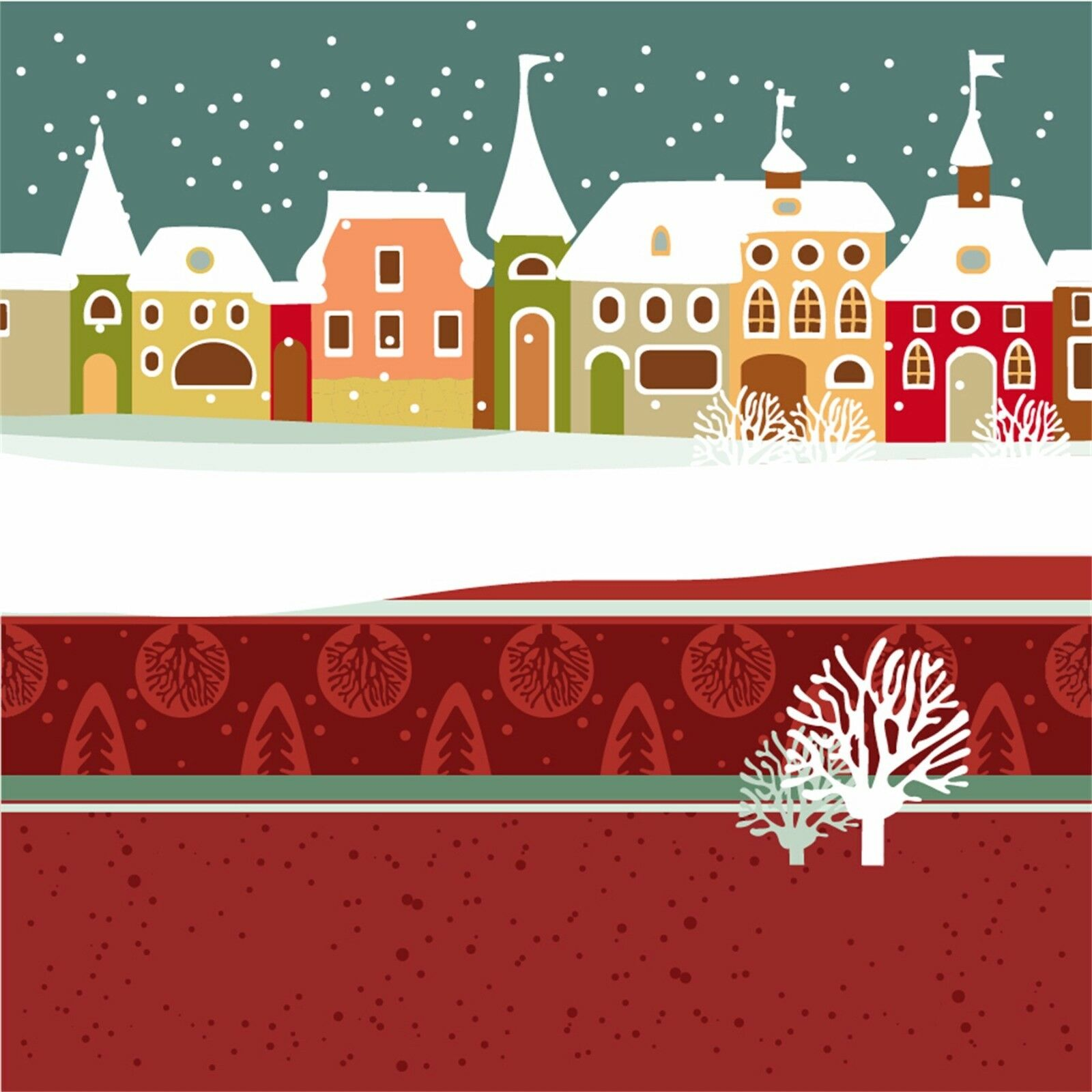 3D 3D 3D Christmas Snow View 7 Wallpaper Mural Paper Wall Print Wallpaper Murals Lemon 144c4a