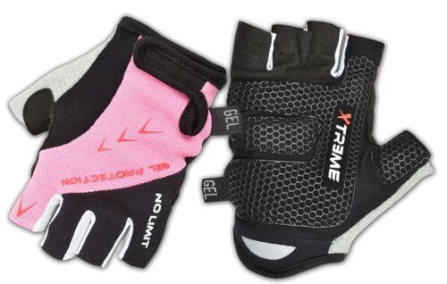 Women Fingerless Cycling Gloves Half Finger Mitt Anti slip Palm Protection Glove
