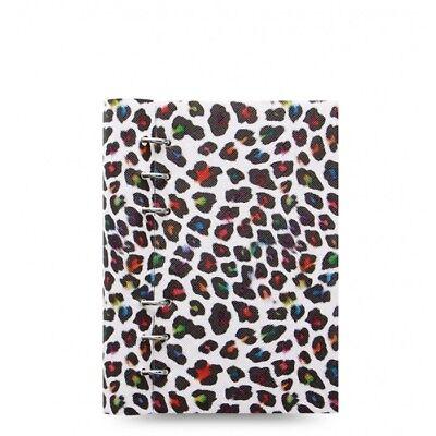 Filofax - Personal Libro A Clip Leopard- Pelle Effetto Organiser