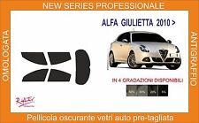 pellicola oscurante pre-tagliata vetri alfa romeo giulietta dal 2010  kit compl