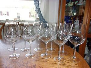 Wine-Goblet-Crystal-Cut-Blown-Set-of-10