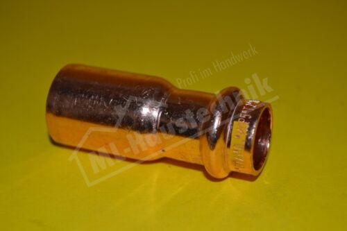 Press Fitting Gas PG5243 Reduzierung Kupfer-rohr 15-18-22-28-35-42-54 V Kontur