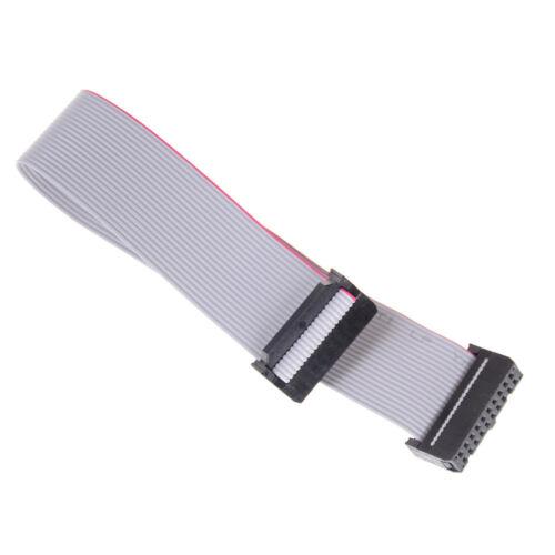5Pcs 20-Pin Cable de datos de cinta plana de IDC 20CM 2.54MM Pitch AVR ISP JTAG Alambre DSUK
