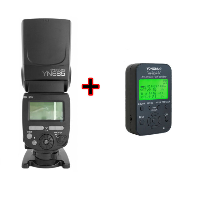 Yongnuo YN-685 YN685 i-TTL Aufsteckblitz mit YN-622N-TX Funkauslöser für Nikon