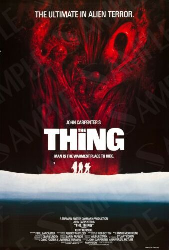 The Thing Movie Poster Original A4 A3 John Carpenters The Thing