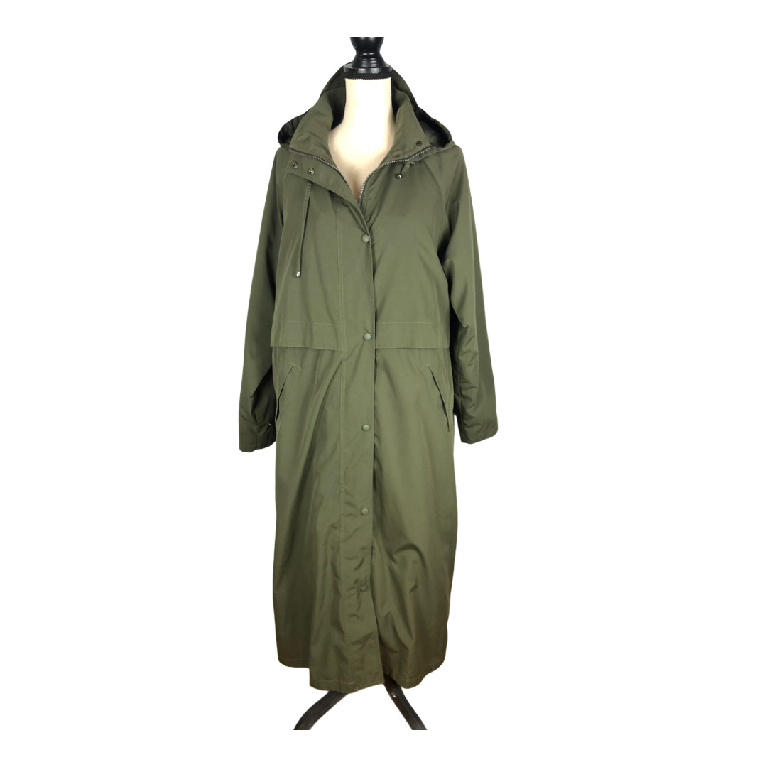 L.L. Bean Olive Green Wool Liner Trench Coat     … - image 1