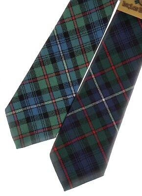 Robertson Red Modern Tartan Plaid 100/% Lambswool Scarf /& Tie Gift Set