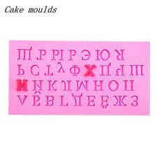 3D russi lettere numeri di figura della torta del fondente Stampi