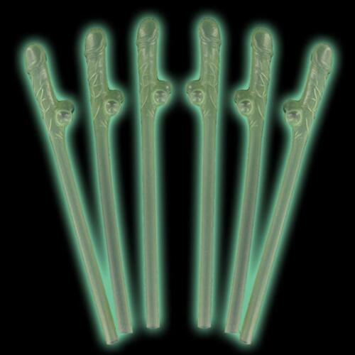 Hen Night Party Accessories Glow in The Dark Willy Straws Choose Qty 1-32