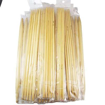 "75pcs 15size 7.9"" 20cm Double Pointed  Bamboo Knitting Needles"