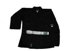 KARATE,TAEKWON<wbr/>DO,MARTIAL ARTS UNIFORM BLACK COLOR 7-OZ WITH WHITE BELT THREAD(R)