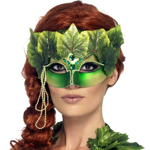 Adult Green Ivy Forest Fairy Tale Nymph Halloween Cosplay Costume Accessory Mask