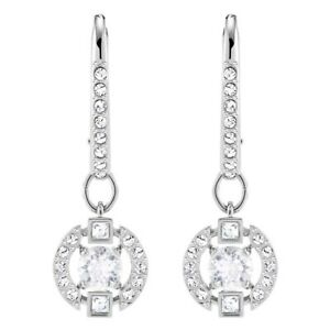 Swarovski Sparkling Dance Rhodium Plated White Crystals Pierced Earrings M527236