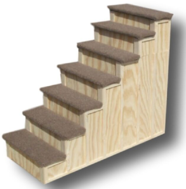 30 Inch Wood Pet 5 Steps Tall Bed Step