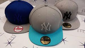 New-Era-Cappelli-NY-blu-grigio-new-york-yankees-varie-misure