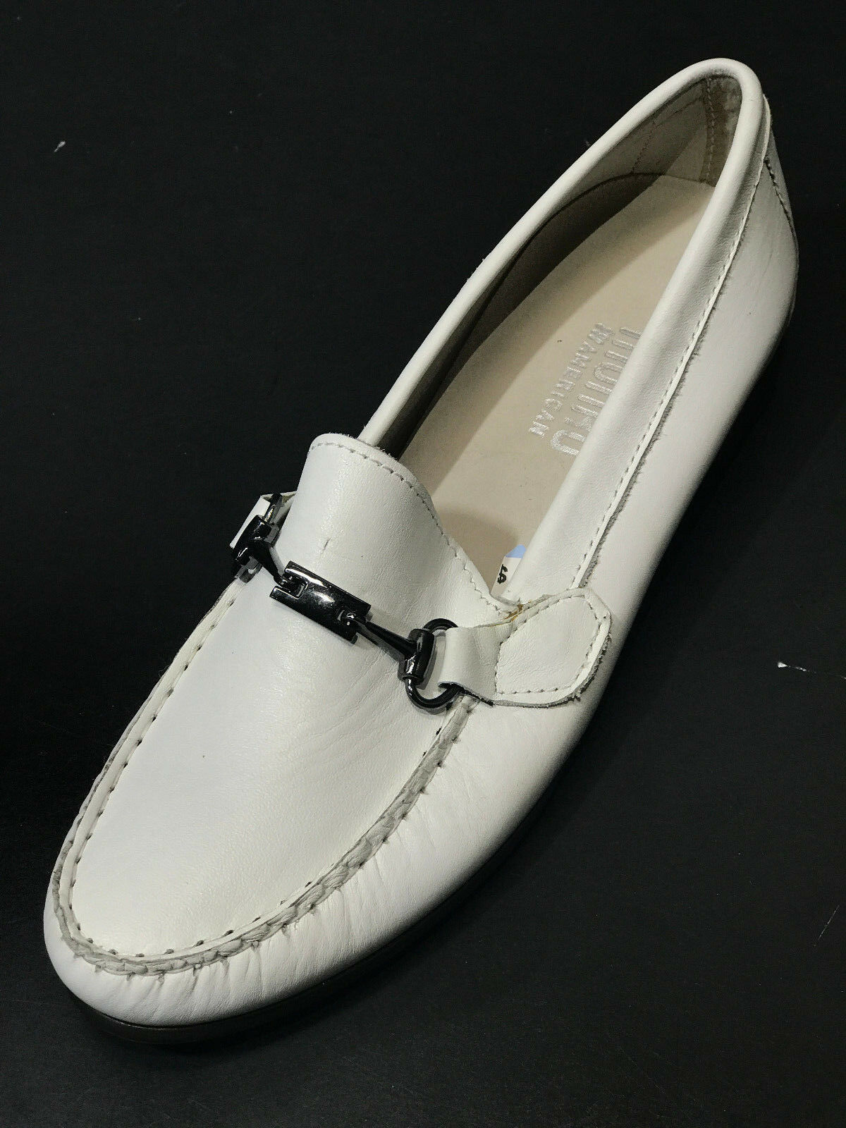 NEW Munro American Women's Kimi White New Leather Loafers Size 6.5M New White 43832d