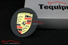 "ONE PORSCHE WHEEL CAP Genuine factory OEM MATTE BLACK center 996 997 991 19"" 18"""