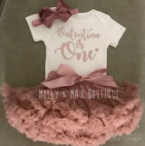 Incredible Girls 1St First Birthday Cake Smash Set Outfit Tutu Personalised Funny Birthday Cards Online Inifodamsfinfo