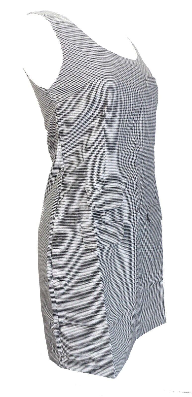 Ladies Retro Mod Mod Mod Dogtooth Pinafore Tunic Dress ba9e1b