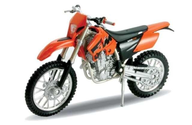 KTM 525 EXC, Welly Motocross Moto bike Modèle 1:18, EMBALLAGE D'ORIGINE, Neuf