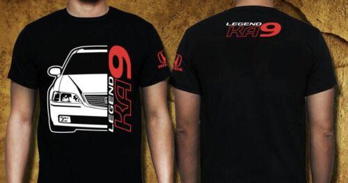 Honda KA9 LEGEND Car Racing Gildan Ultra Black Heavy Cotton T-Shirt